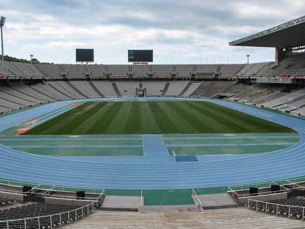 L'intérieur du stade olympique de Barcelone