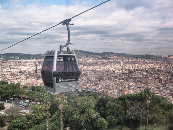 Le téléphérique de Montjuic à Barcelone