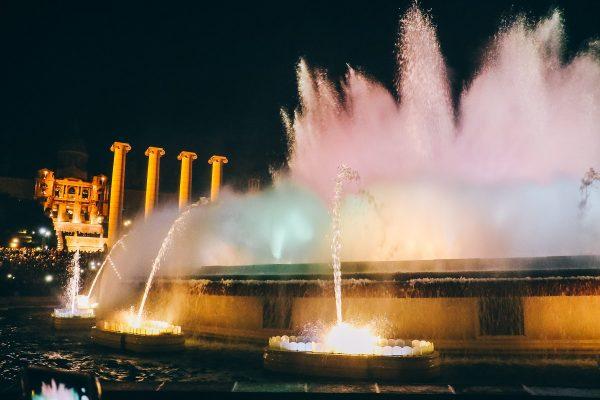 Fontaines magiques de Montjuic à Barcelone