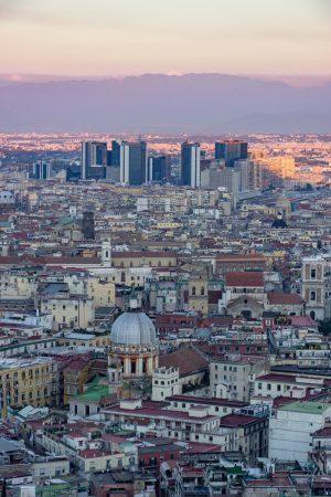 Coucher de soleil sur Naples