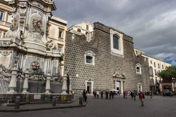 L'église Gesu Nuovo de Naples et sa façade particulière