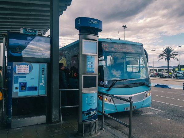 La navette Aérobus de Barcelone