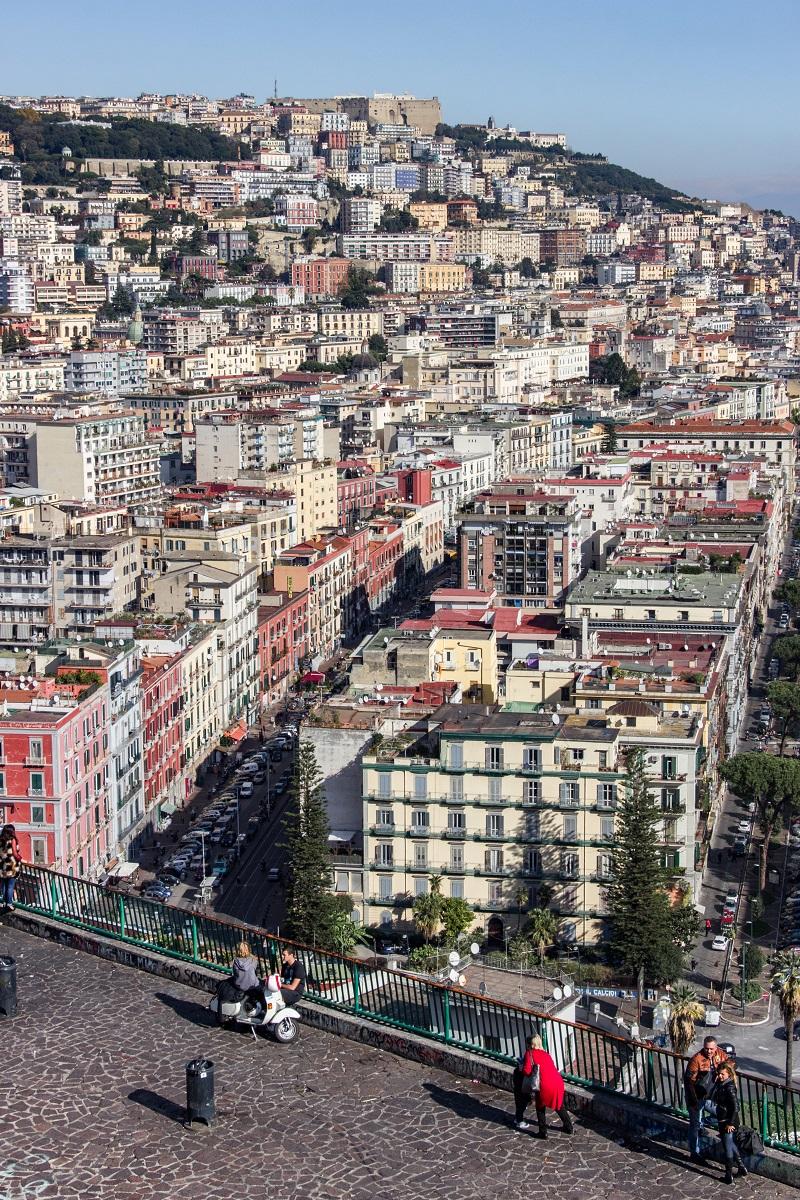 Panorama Sur Naples Depuis La Via Orazio