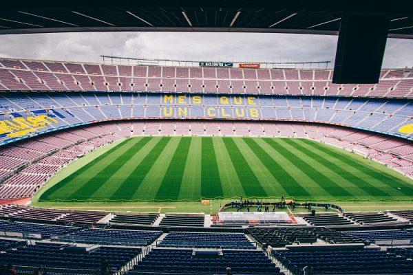 L'intérieur du stade du Camp Nou à Barcelone