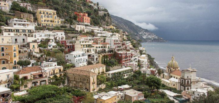 Vue sur la mer depuis Positano