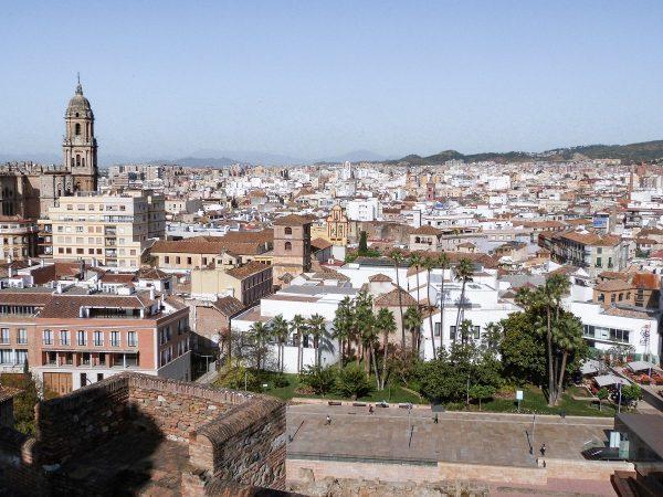 Vue sur Malaga depuis l'alcazar