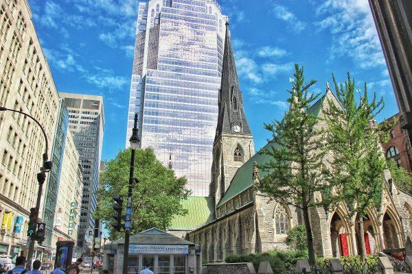 Dans le centre-ville de Montreal