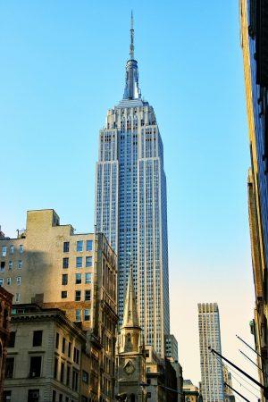 Vue sur l'Empire State Building depuis la 5ème Avenue