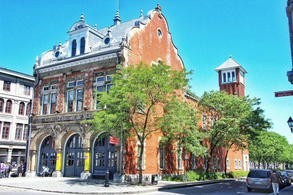 Une bâtisse dans le Vieux-Montreal