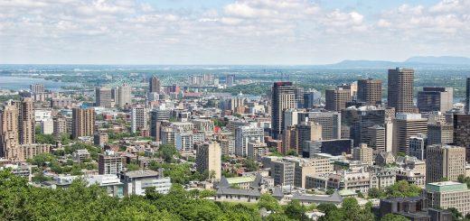 Le panorama depuis le chalet du Mont Royal de Montreal