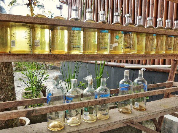Des bouteilles d'essence à Bali