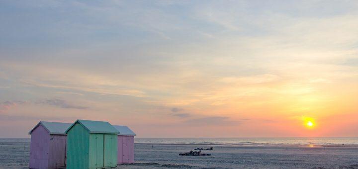 Coucher de soleil sur la plage de Berck sur mer