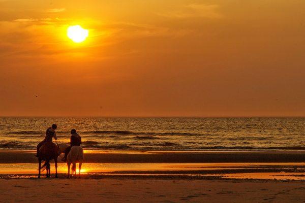 Que faire à Berck : contempler les couchers de soleil depuis la plage !