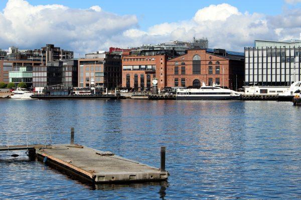 Dans le port d'Oslo