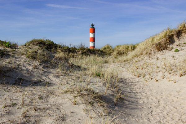 Le phare de Berck vu depuis les dunes
