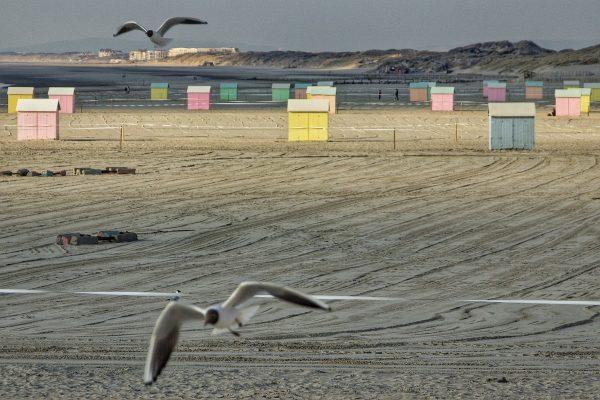 La plage de Berck et ses cabanes colorées