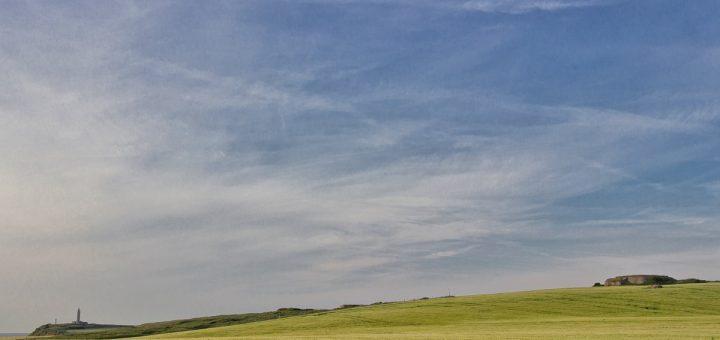 Paysage sur la côte d'Opale