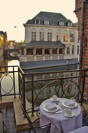 Vue depuis un hôtel du centre-ville de Bruges