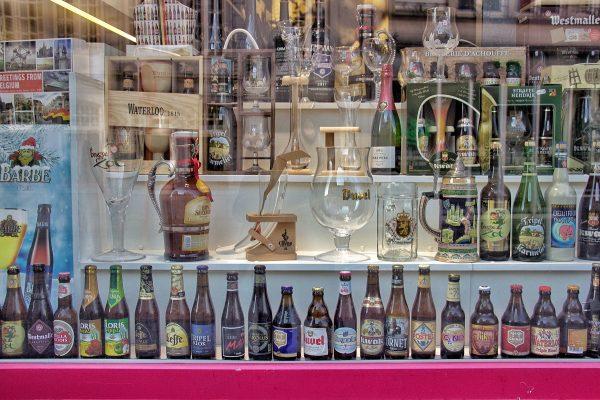 Un magasin de bières à Bruges