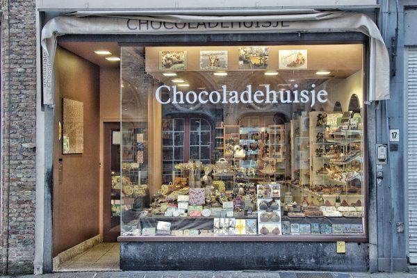 Une chocolaterie à Bruges