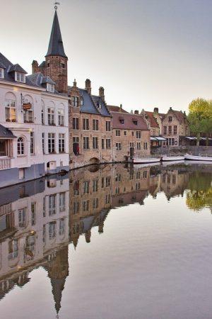 Vue sur les canaux de Bruges
