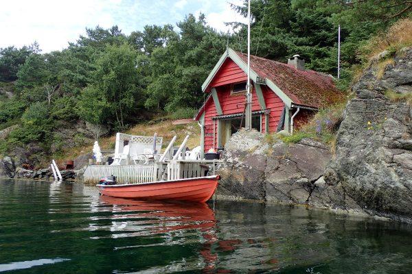 Maison de bois à Kalvoy