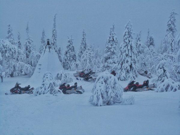 Kota dans la forêt en Laponie