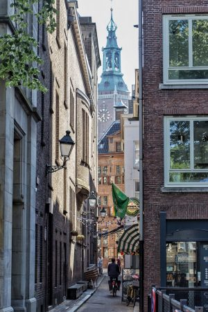 Une ruelle du centre-ville de La Haye
