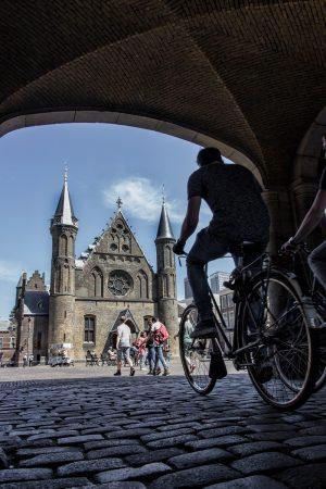 Vélos dans le centre-ville de La Haye