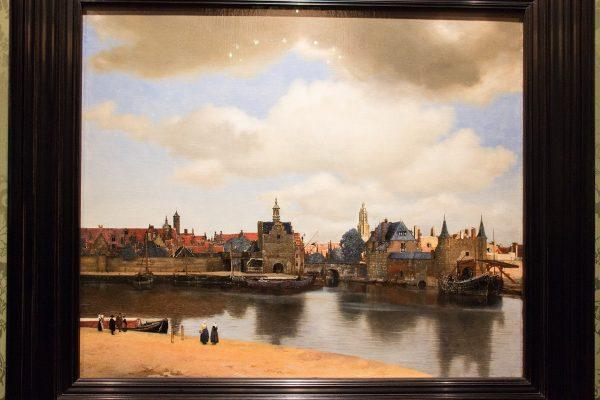 """Le tableau """"Vue sur Delft"""" de Vermeer"""