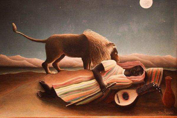 La Bohémienne endormie de Rousseau au MOMA
