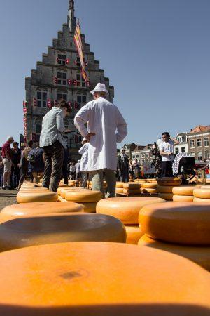 Sur le marché aux fromages de Gouda