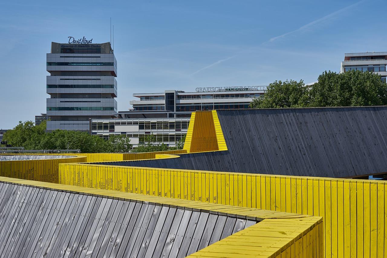 Passerelle Luchtsingel de Rotterdam