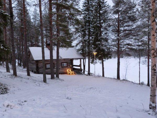 Une cabane de sauna finlandais