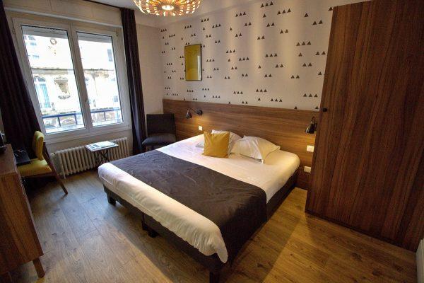 Une chambre de l'hôtel Métropole de Boulogne-sur-Mer