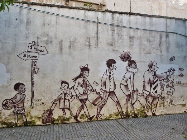 Street Art sur un mur dans Cordoue