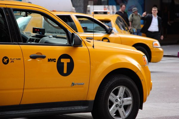 Taxis jaunes dans New-York