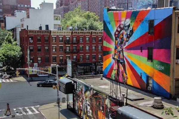 Une vue depuis la Highline à New-York