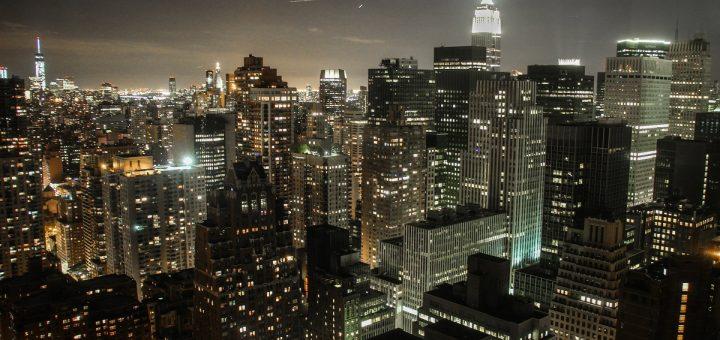 Vue depuis une chambre d'hôtel à New-York