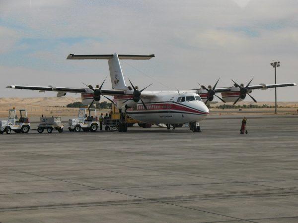 Exemple d'avion en Egypte pour un vol intérieur
