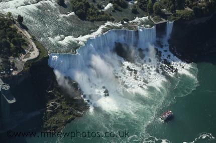 Chute américaine de Niagara vue du ciel