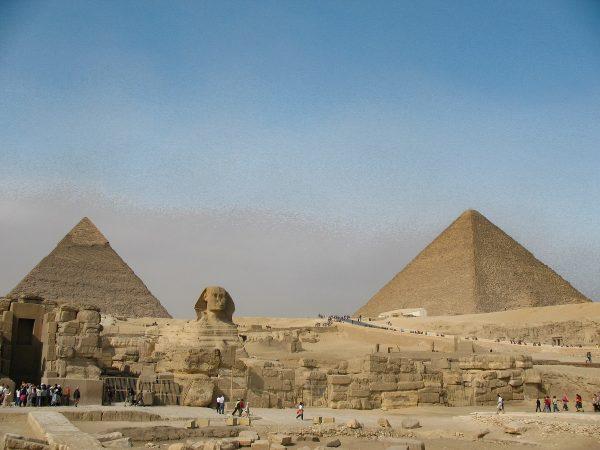 Le plateau de Gyzeh en Egypte