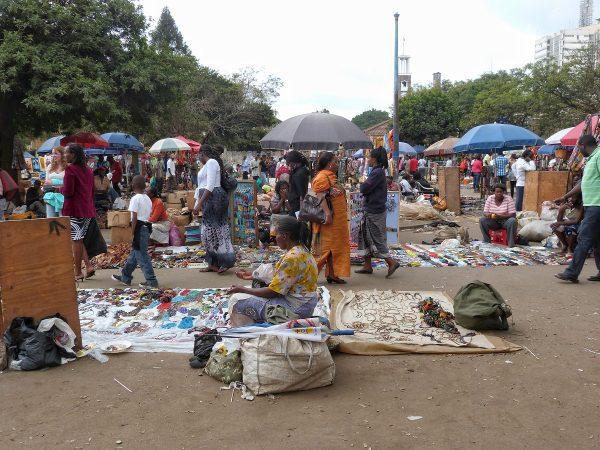 Un marché à Nairobi