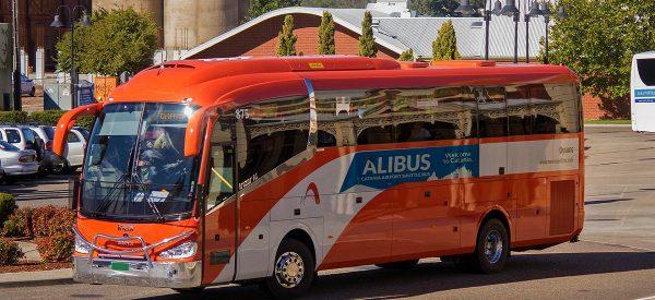 La navette Alibus à l'aéroport de Naples