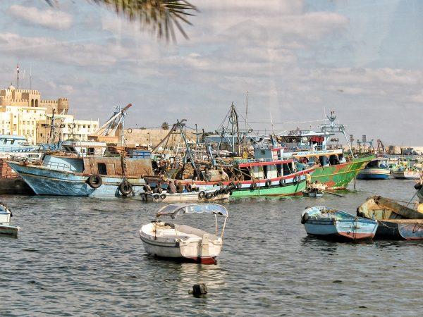 Le port d'Alexandrie en Egypte
