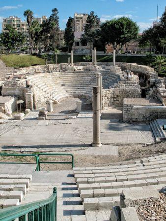 L'amphithéâtre romain que l'on peut visiter à Alexandrie