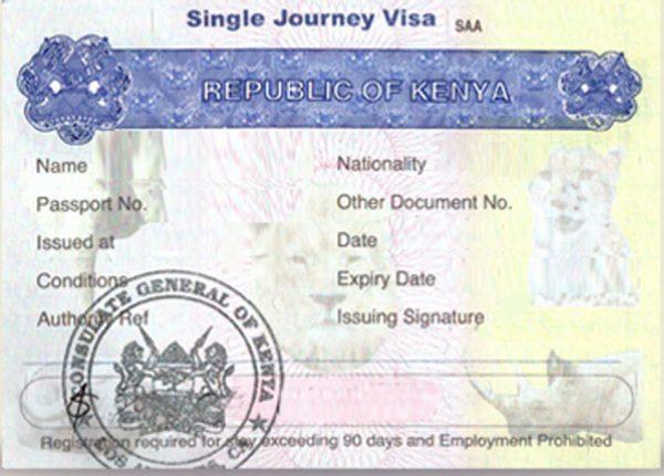 Visa du Kenya