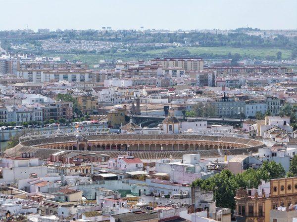 Les arènes de Séville vues depuis le sommet de la cathédrale