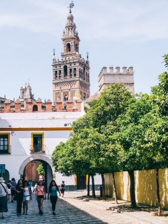 Clocher de la giralda de la cathédrale de Séville
