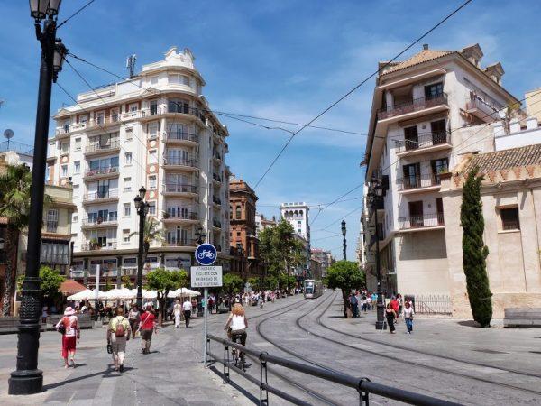 Une ligne de tramway à Séville